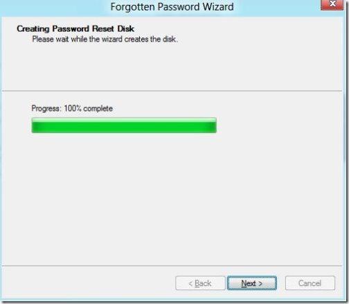 Create A Password Reset USB In Windows 8 7