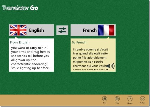 Language Translator app Windows 8