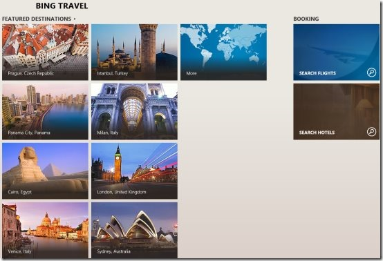 Windows 8 travel guide apps
