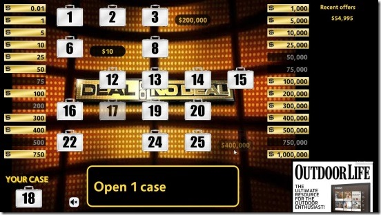Deal Or No Deal  taking cases out