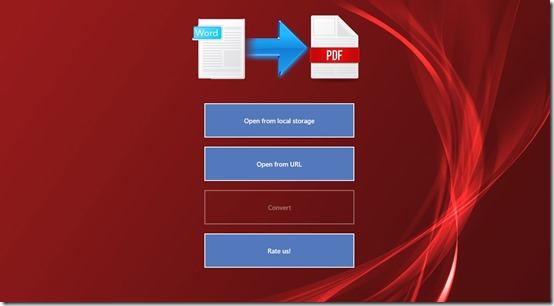 Word2PDF- Main Screen