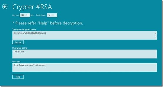 Cryptor RSA- Decrypt