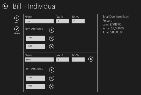 Handy Calcs- Bill individual