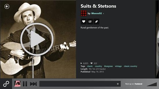 8tracks Radio - Full Screen Play View