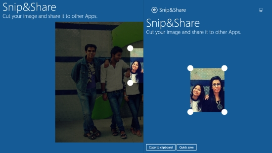 Snip&Share - Copy and Save options