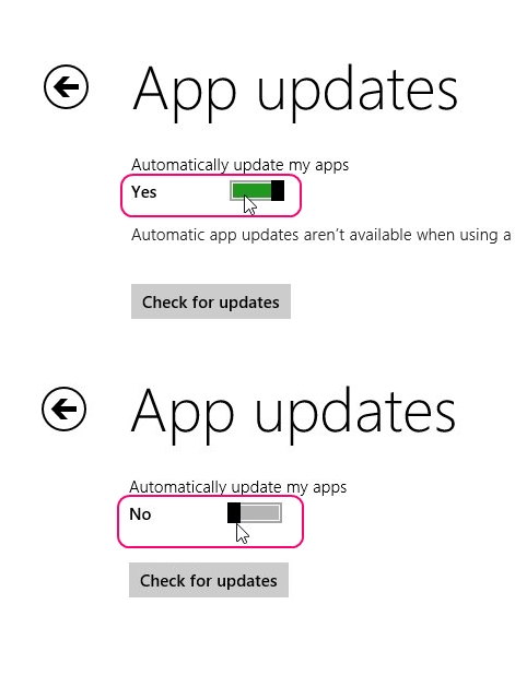 Turning Off Updates