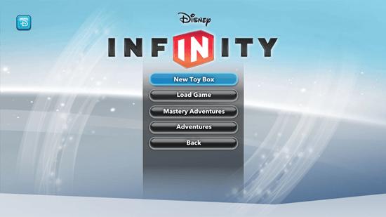 Disney Infinity: Toy Box - Main Menu