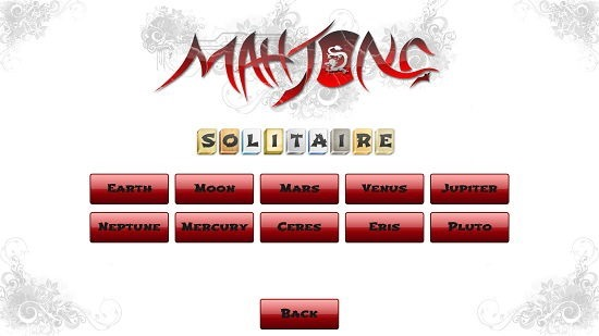 Mahjong Solitaire level browser