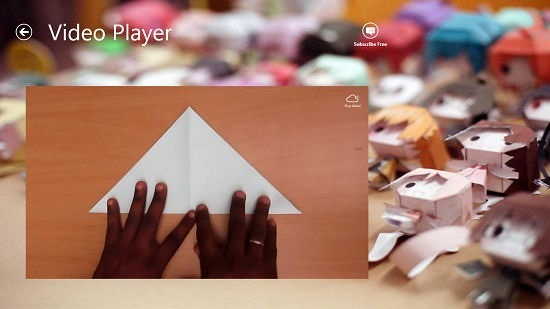 Paper Crafts Video Player Interface