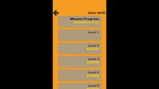 Drive Me Out Level Selection
