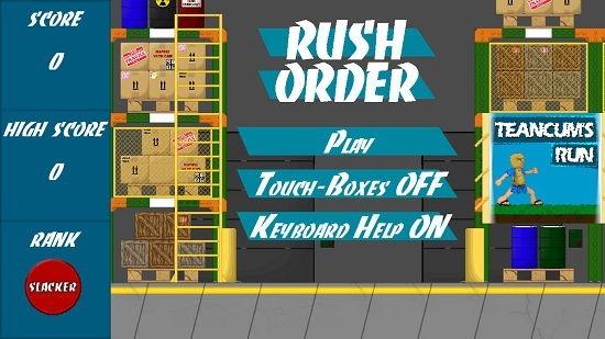 Rush Order Main Screen
