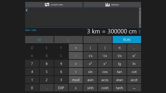 Scientific Calculator App for Windows 8